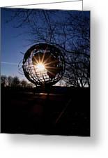 Sunset Through The Unisphere Greeting Card