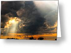 Sunset Thru Clouds Greeting Card