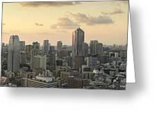 Sunset Tokyo Tower Panorama Greeting Card