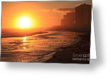 Sunset Towers Greeting Card