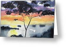 Sunset Tree Koh Chang Thailand Greeting Card