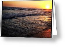Sunset Greeting Card by Troy Lewis