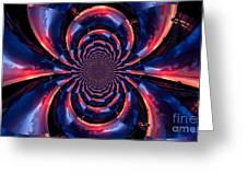Sunset Trucker Illusion 3 Greeting Card