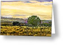 Sunset Verde Valley Thousand Trails Greeting Card