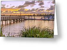 Sunset View Boardwalk Greeting Card