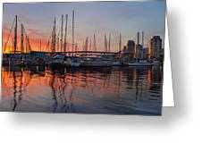 Sunset View From Charleson Park In Vancouver Bc Greeting Card