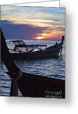 Sunset View From Sunset Beach On Ko Lipe Island In Thailand Greeting Card