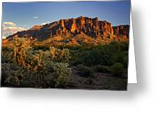 Sunset View Of The Superstitions  Greeting Card