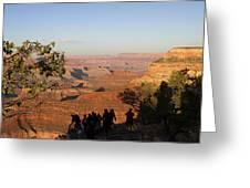 Sunset Vigil Grand Canyon Greeting Card