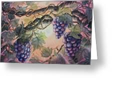 Sunset Vineyard Greeting Card