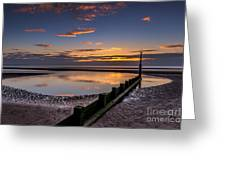 Sunset Wales Greeting Card by Adrian Evans