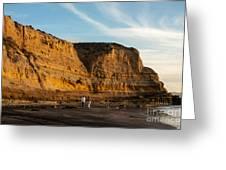 Sunset Walk At Flat Rock  La Jolla California Greeting Card