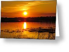 Sunset Walk In The Water Greeting Card