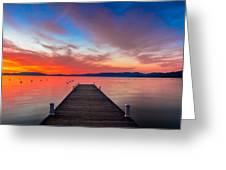 Sunset Walkway Greeting Card