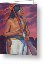 Sunset Warrior Greeting Card