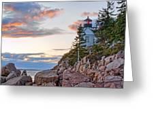 Sunset Watcher - Bass Harbor Head - Maine Greeting Card