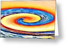 Sunset Wave Greeting Card