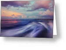 Sunset Wave. Maldives Greeting Card