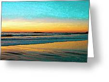 Sunset With Birds Greeting Card by Ben and Raisa Gertsberg