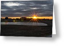 Sunset With Flair Greeting Card