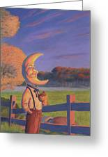 Sunset With Oliver Greeting Card by Richard Moore
