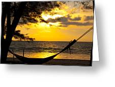 Sunset With The Sea. Greeting Card