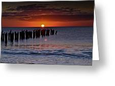 Sunset...naples Style Greeting Card