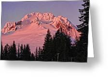 Sunsetting On Mount Hood Oregon 1 Greeting Card