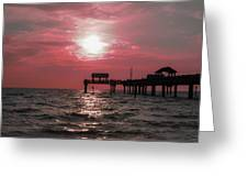 Sunsetting On The Gulf Greeting Card