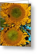 Sunshine And Turquoise  Greeting Card