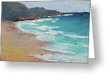 Sunshine Beach And Lions Head Noosa Heads Queensland Greeting Card