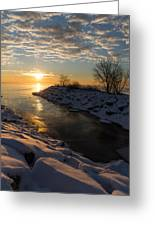 Sunshine On The Ice - Lake Ontario Toronto Canada Greeting Card