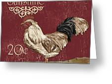 Sunshine Rooster Greeting Card