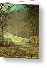 Sunshine Through Winter Trees Greeting Card