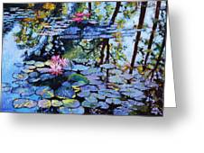 Sunspots On The Lilies Greeting Card