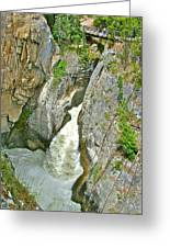 Sunwapta Falls Along  Icefields Parkway In Alberta Greeting Card