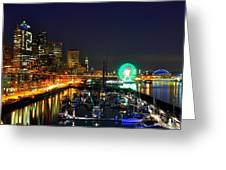 Super Bowl Eve In Seattle Greeting Card