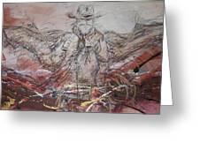 Super Cowboy Greeting Card