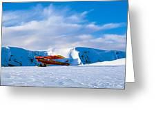 Super Cub Piper Bush Airplane Greeting Card