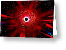 Super Massive Black Hole Greeting Card