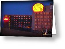 Super Moon In Halifax Nova Scotia Greeting Card
