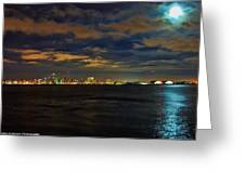 Super Moon Over San Diego 1 Greeting Card