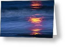 Super Moon Reflection Greeting Card