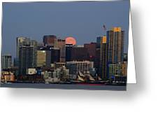 Super Moon San Diego Greeting Card