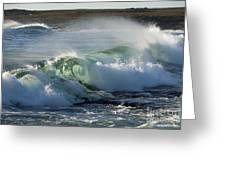 Super Wave At The Barents Sea Coast Greeting Card