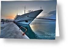 Super Yacht At Nafplion  Greeting Card