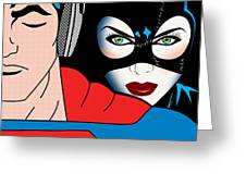 Superman And Catwoman  Greeting Card by Mark Ashkenazi