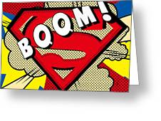 Superman Boom  Greeting Card