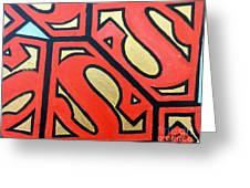 Superman Greeting Card by Juan Molina