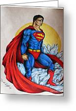 Superman Lives On Greeting Card